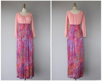 Vintage 1970s Maxi Dress   70s Maxi Dress   70s Bohemian Dress   Vintage Maxi Dress   60s Maxi Dress