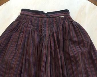 Geiger Austria Peasant Skirt Drindl Boho Stripe Tyrol Trachten Austrian Euro 36