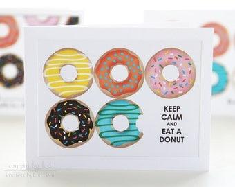 keep calm and send a donut card