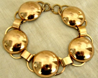 Cool Mid Century Copper Bracelet/SALE!