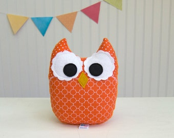 Orange Stuffed Owl Plush Softie