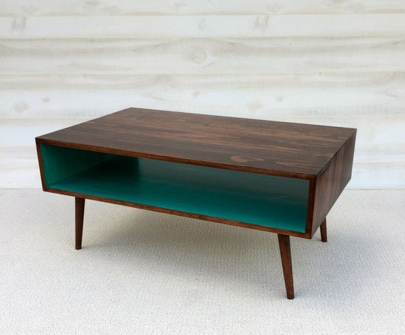 FREE SHIPPING The Slim Handmade Coffee Table Mid Century Modern