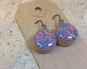 Boho Paisley Earrings Made With Vintage Bingo Markers