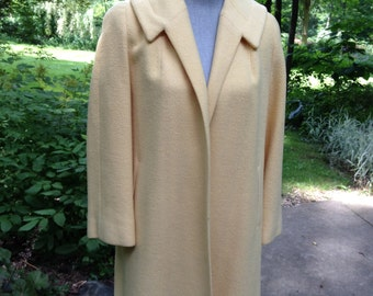 Vintage Light Yellow Womens Coat / Jacket