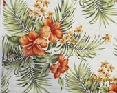 Marianne of Maui Hawaiian Quilting Fabrics Hibiscus and Palm Bouquets