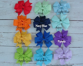 You Choose One 3 Inch Pinwheel Hair Bow