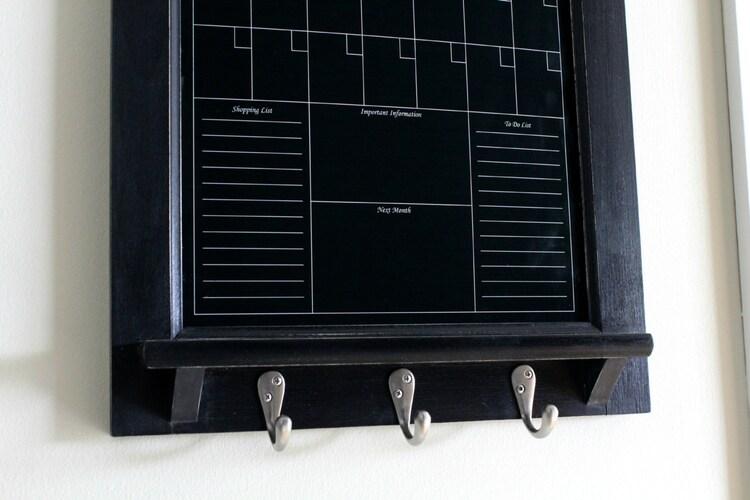 Wall Decor Perpetual Black Dry Erase Calendar Family By