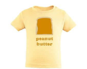 Halloween Costume or Twins or Best Friends Idea -  Peanut Butter and Jelly Set of 2 Toddler Soft  Cotton Tee Shirts PB&J Funny Gift Ideas
