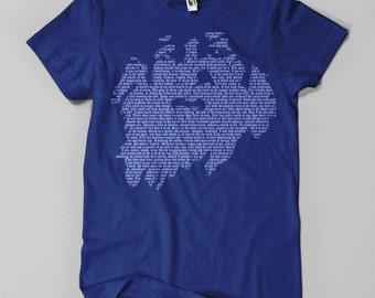 Walt Whitman - Men's T-Shirt - White on Blue (Griot Apparel)