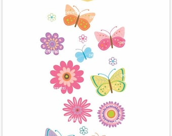 ON SALE butterfly and flower clip art - Digital clip art, butterflies, butterfly clipart, flowers clipart