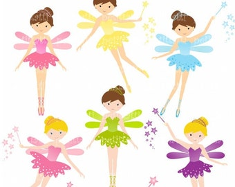 ON SALE girl clip art - cute fairy clip art , Digital clip art , fairies fairies, fairy girl clip art , instant download fairy clip art