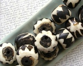 Large African Bone Beads 55% off, qty 5