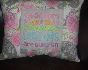 "Dreams (#3)   - 12"" X 14""  Permanentaly Stuffed Throw Pillow"