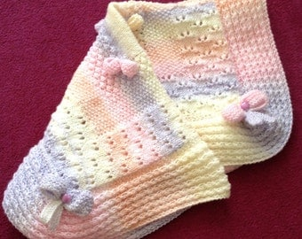Hush A Bye Baby Blanket Knitting Pattern