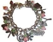 Garden Bracelet. Gardener's Charm Bracelet. Nature Charm