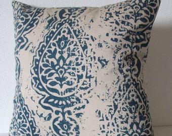 Pillow Cover - Indigo blue Manchester