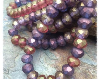 Glazed Berry Mix 6x8mm Rondells, with the Wow Factor from Dream Girl Beads