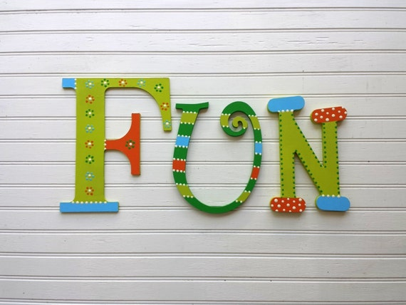 Word wall letters numbers play room letters kids room for Party wall act letter to neighbour