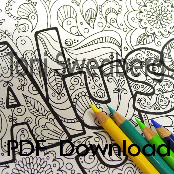 the name alyssa coloring pages - photo#8