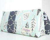 NEW-Personalized Cosmetic Makeup Bag - Leaflet- Made to Order