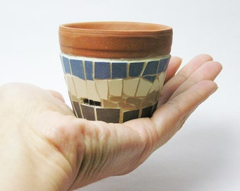 mini ceramic mosaic planter