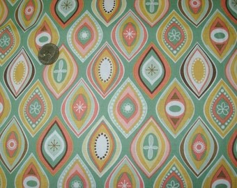 Fabric Riley Blake Lila Tueller Geometric Pinks Greens #3583