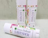 Lavender Soy Lip Balm Tube- Vegan - Green Daffodil
