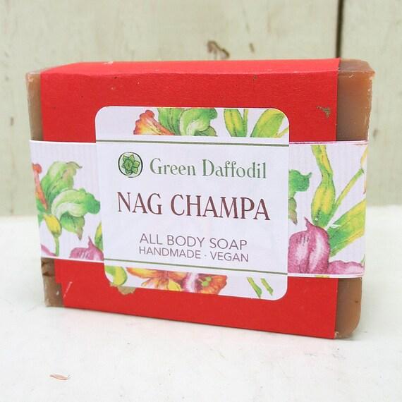 Nag Champa Bar of Soap - Green Daffodil