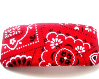Red Bandana Barrette