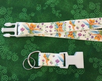 Tink Tinker Bell Lanyard with removable key chain end