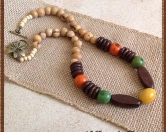 Acai Beads Necklace and Earrings Set, Organic Jewelry, Tagua Jewelry, Eco-friendly Jewelry, Statement Jewelry