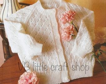 Girl's cardigan knitting pattern. Instant PDF download!