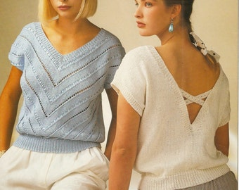 women's summer top knitting pattern. Instant PDF download!