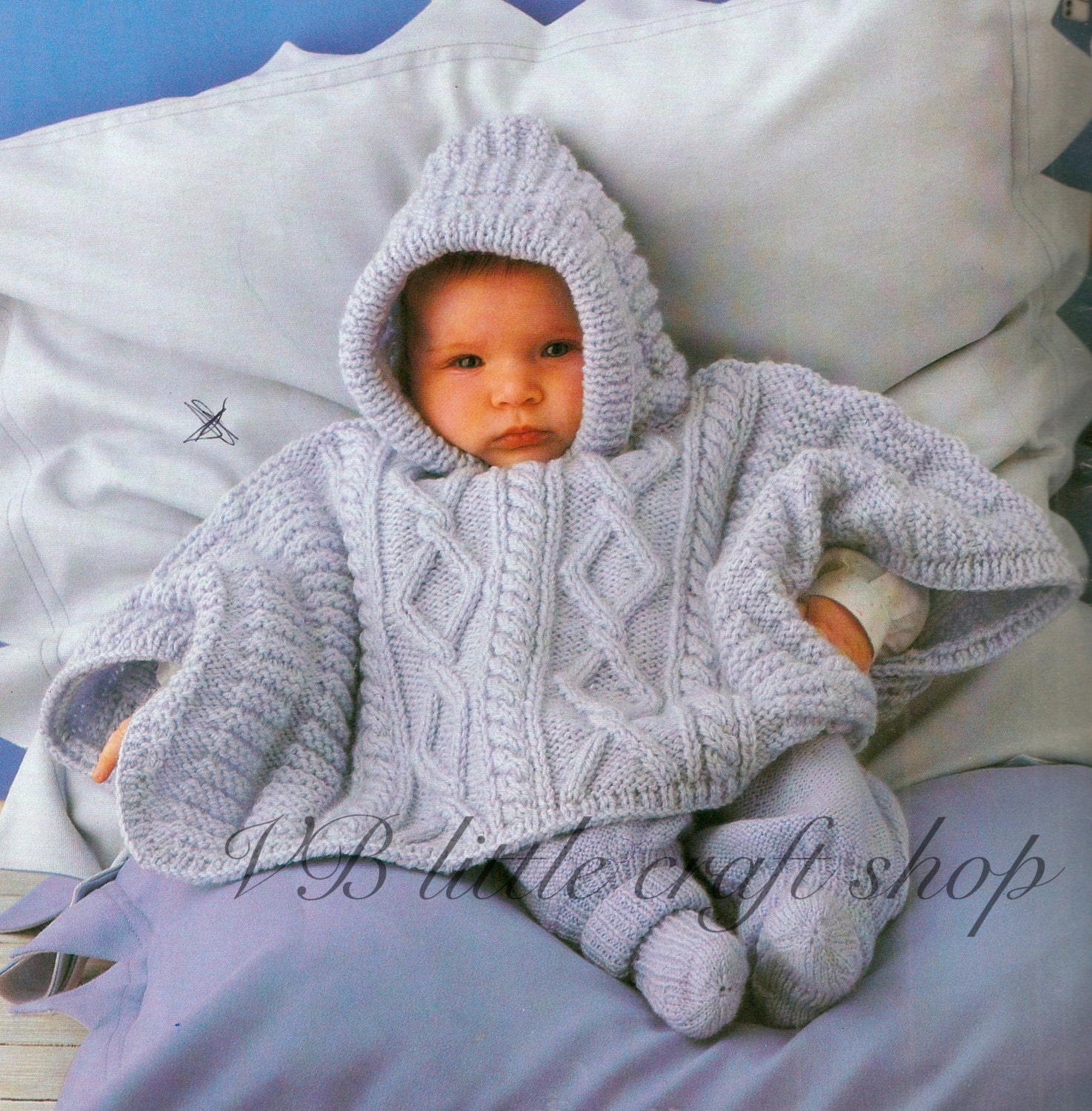 Knitting Pattern For Baby Poncho With Hood