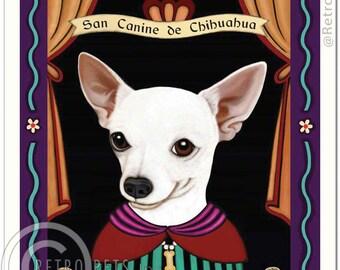 8x10 Chihuahua Art - Patron Saint of the Napoleonic Complex - Art print by Krista Brooks