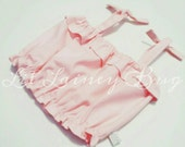 Light Pink Crop Top - Baby Toddler Girls Top - Summer, Birthday Pics, Beach- Birthday Gift- Plenty of Bloomers or Shorties to Match