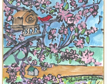 Bird Song and Blossoms
