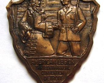 1931 AMERICAN LEGION United States Thirteenth Annual Convention Detroit Medal with Ribbon