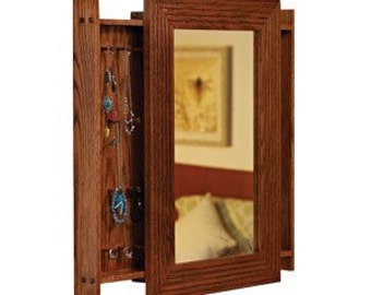 Mirrored Jewelry Cabinet Woodworking Plan