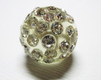 Set of 4 Rhinestone Ball shaped Buttons