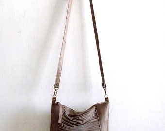 Brown leather bag, Every day purse , Cross-body bag - brown