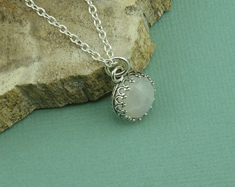 Moonstone Necklace - Sterling Silver Moonstone Pendant, Moonstone Jewelry, Small Moonstone Necklace, Birthday Gift