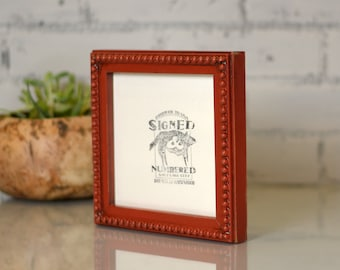 6x6-inch Square Picture Frame in 1x1 Decorative Bumpy Style and in Finish COLOR of YOUR CHOICE - 6x6 Photo Frame