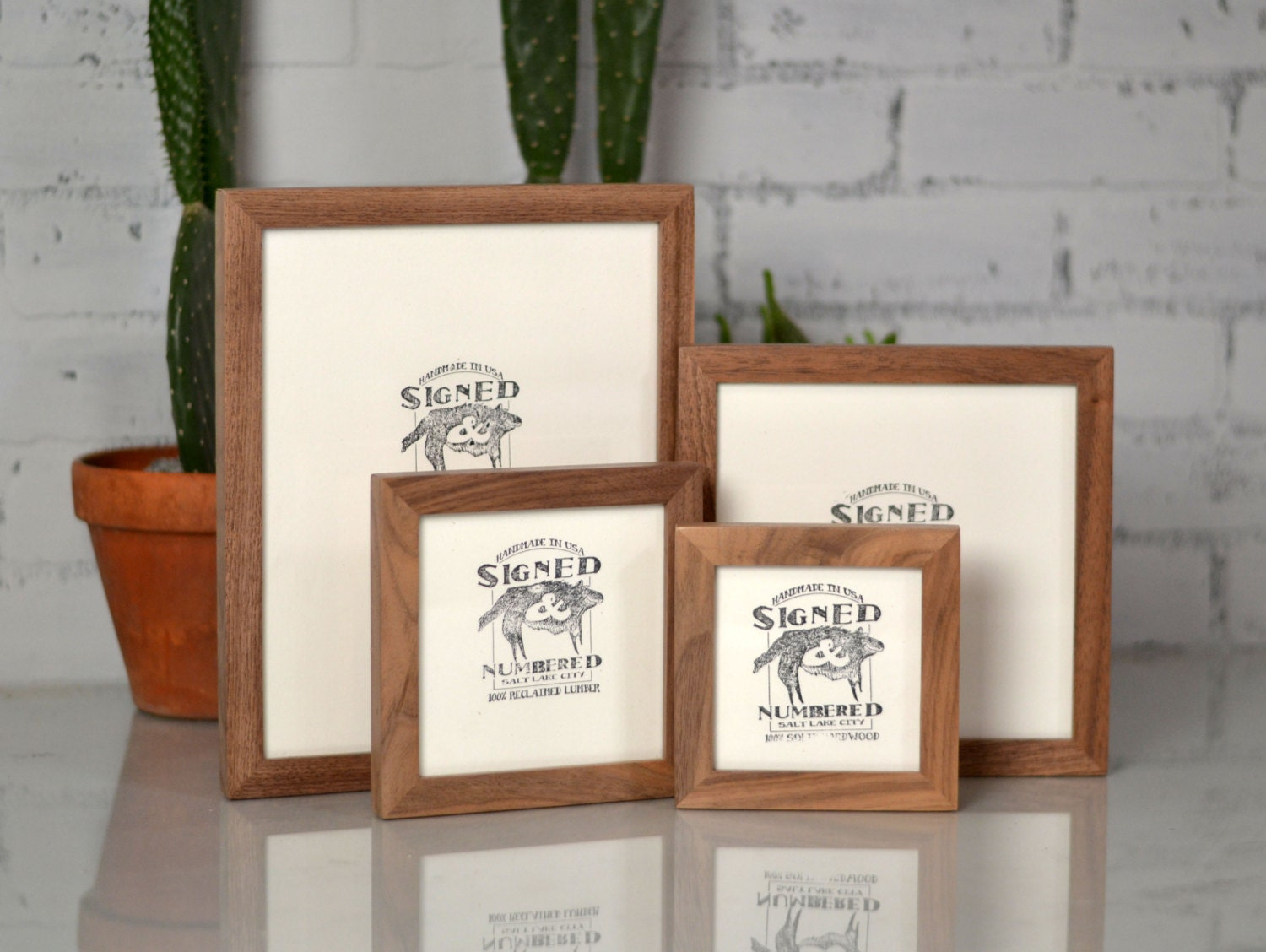 basic picture frame natural walnut solid hardwood gallery wall frames choose medium size 8x8 7x9 8x10 9x9 8x12 85x11 or a4 83x117