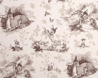 Custom Fitted Crib ~ Toddler Bed Sheet ~ Bambi Toile