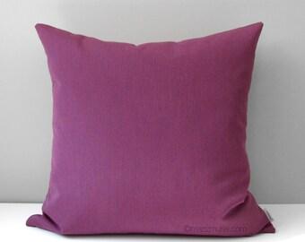 SALE - Plum OUTDOOR Pillow Cover, Decorative Throw Pillow Case, Purple Iris Sunbrella, Modern Violet Cushion Cover