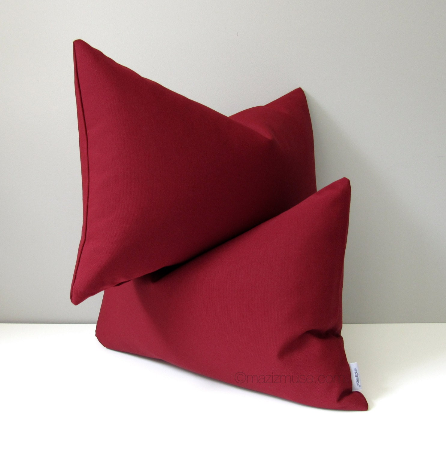 Burgundy Colored Throw Pillows : Burgundy OUTDOOR Pillow Cover Modern Throw Pillow Case