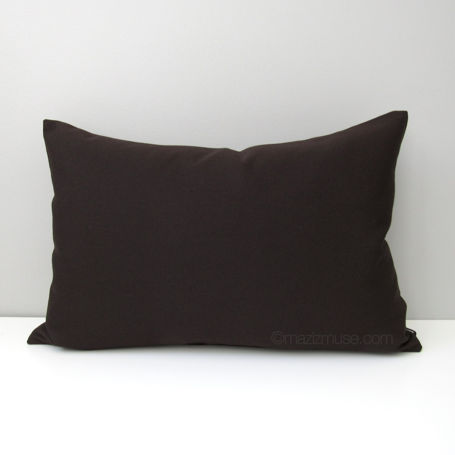 Dark Brown Throw Pillow : Dark Brown Outdoor Pillow Cover Decorative Throw Pillow Case