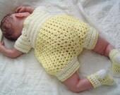 0064 Infant Boys Yellow Sunshine Pattern,Baby Boys Crochet Romper,Infant Bubblesuit,Crochet Pattern by CarussDesignZ