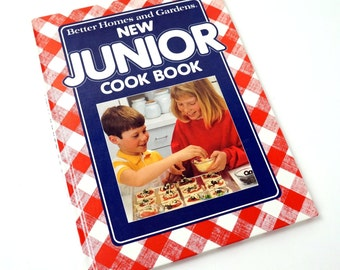 Vintage 1989 Better Homes and Gardens New Junior Cook Book HC / Kid Tested, Mom and Dad Approved, Easy-to-Follow Recipes